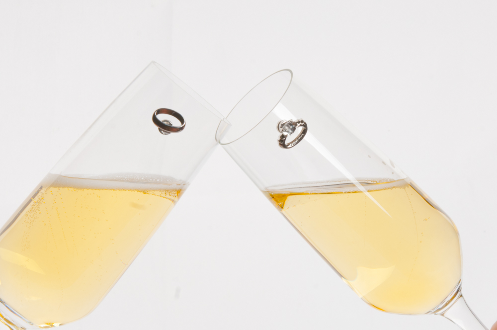 champagne wedding wine charms