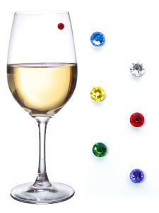Swarovski magnetic wine charms