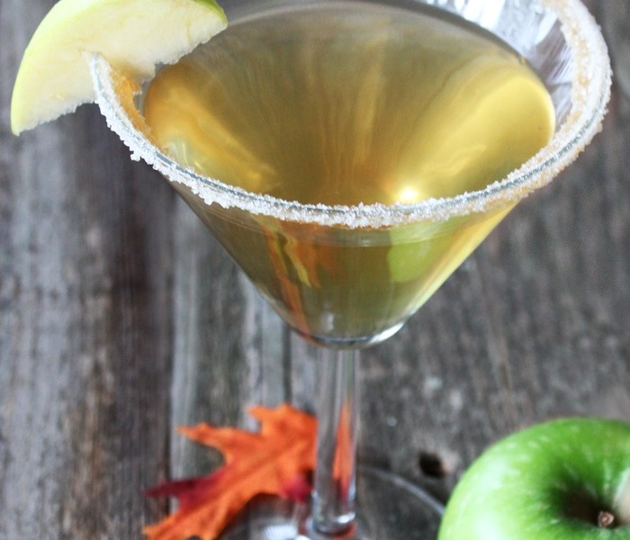 Fall Caramel Apple Martini