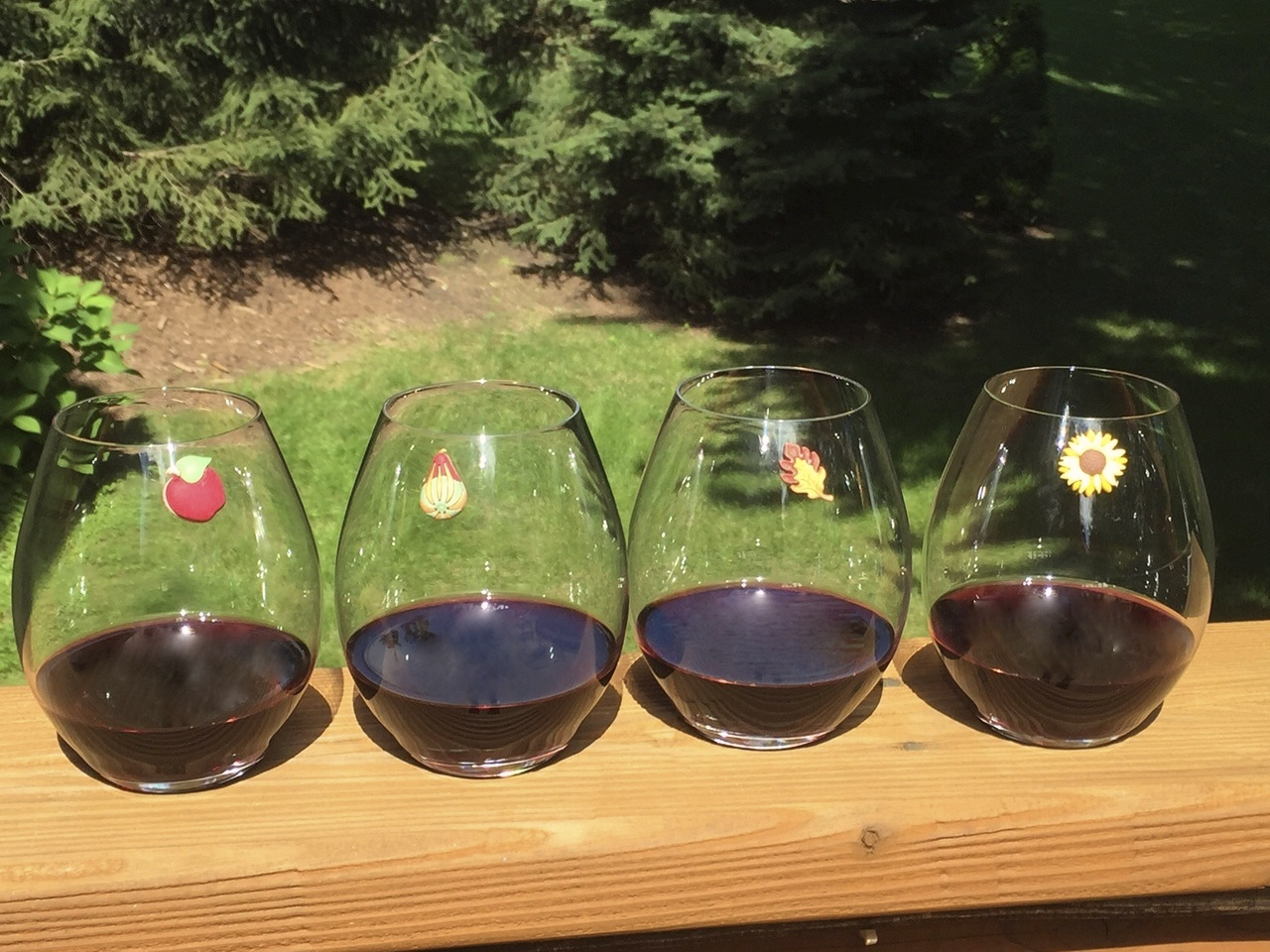 fall magnetic wine glass markers